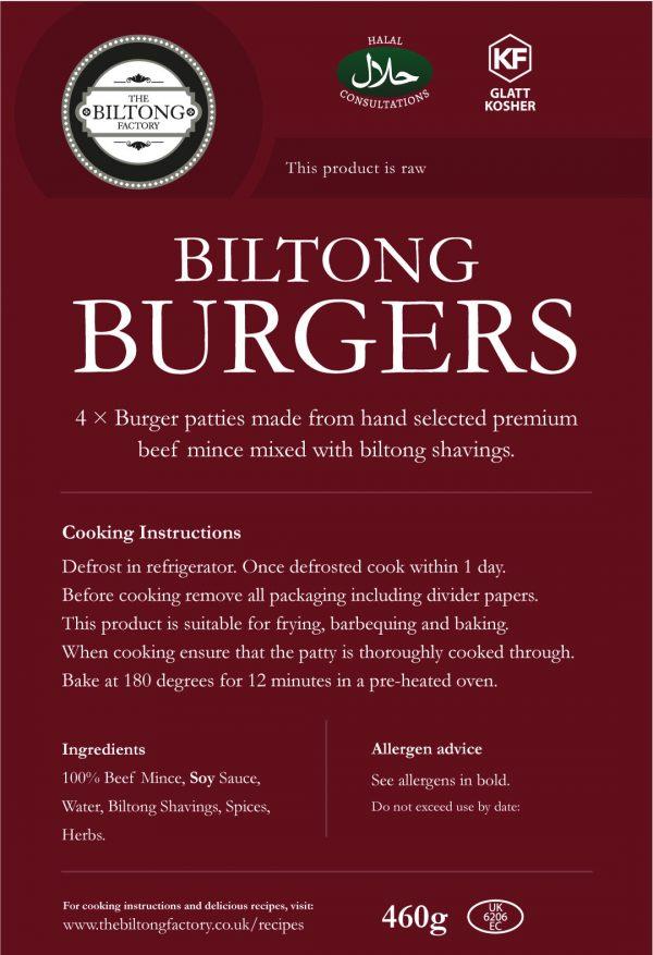 Biltong Burgers Label